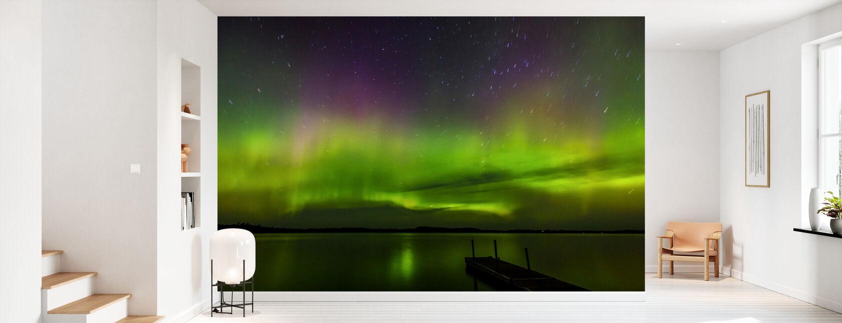 Aurora Borealis over Burntside Lake - Wallpaper - Hallway