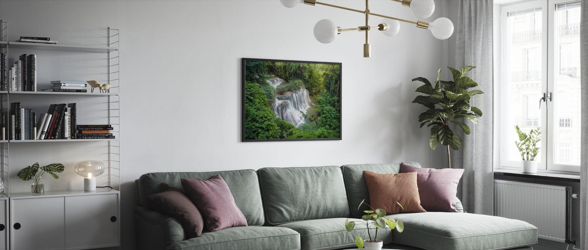 Wasserfall Huay Mae Khamin - Poster - Wohnzimmer