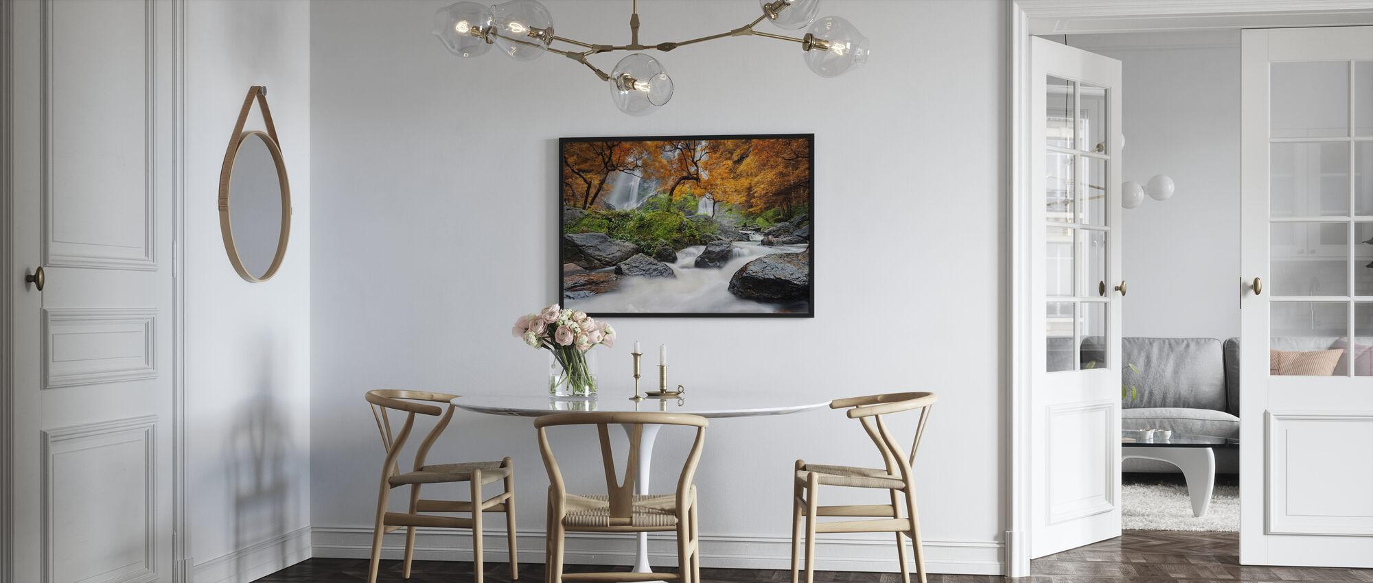 Autumn Waterfall - Framed print - Kitchen