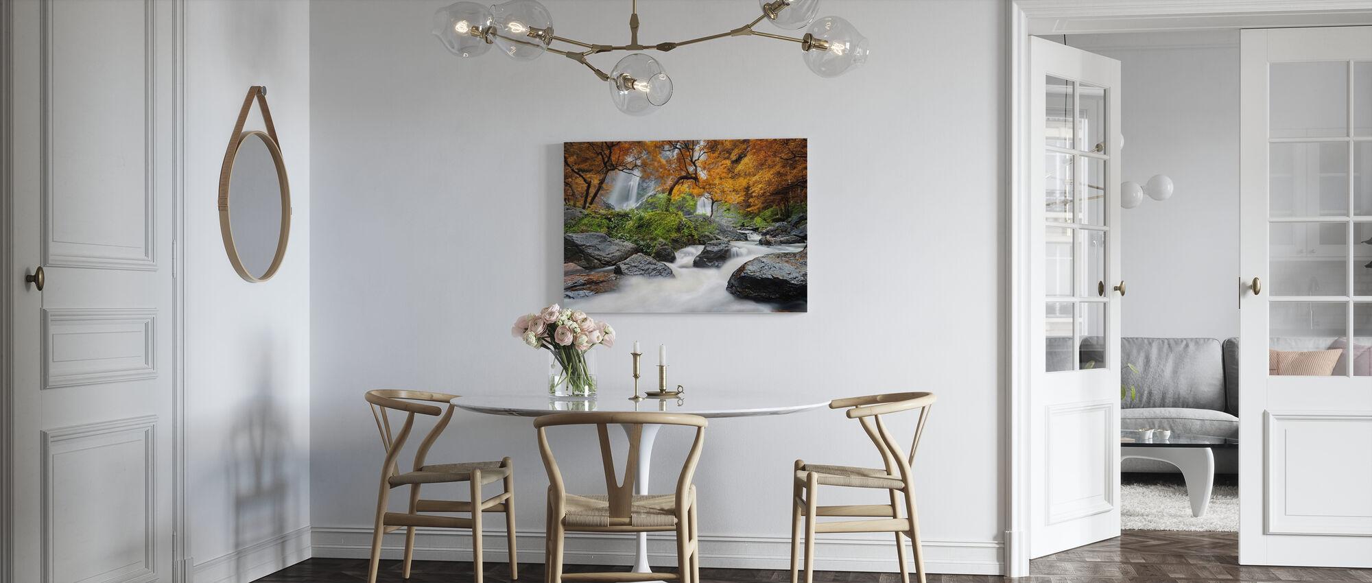 Autumn Waterfall - Canvas print - Kitchen