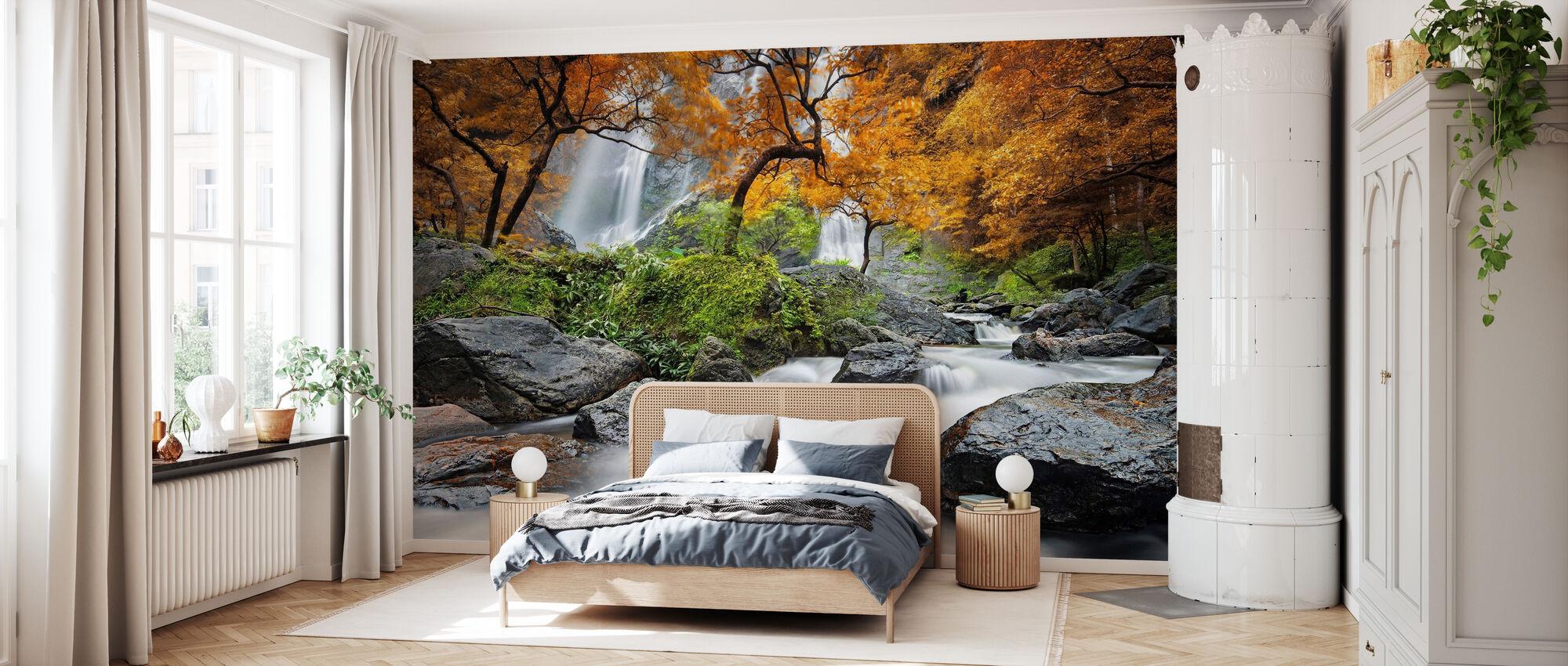 Autumn Waterfall - Wallpaper - Bedroom