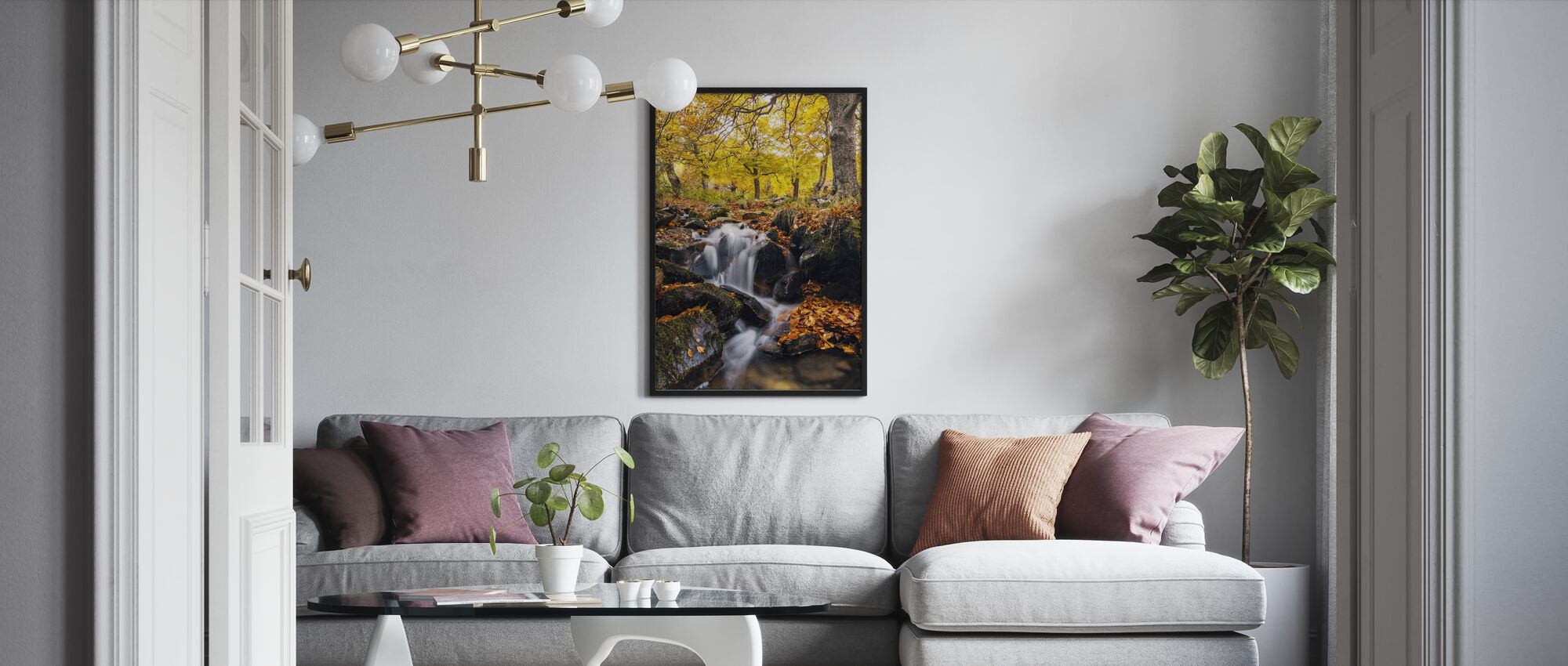 Spritzer des Herbstes - Poster - Wohnzimmer