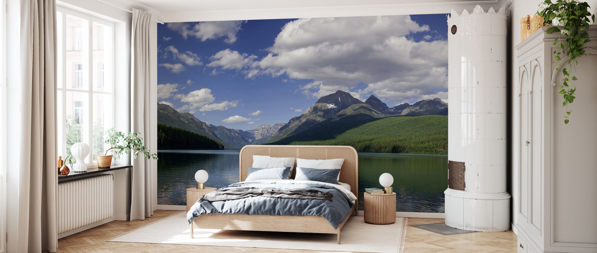 Bowman Lake Panorama - Wallpaper - Bedroom