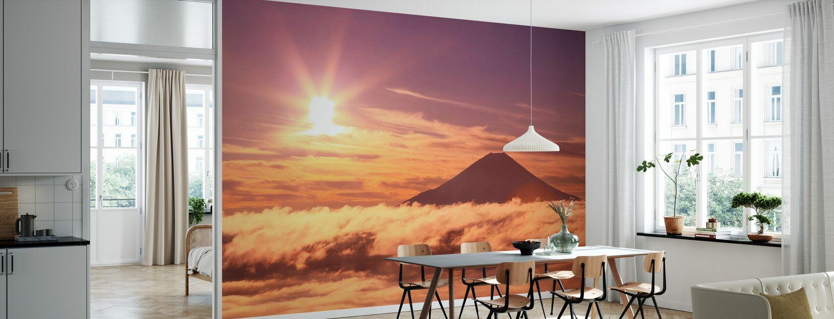 Berg Fuji und Wolkenmeer - Tapete - Küchen