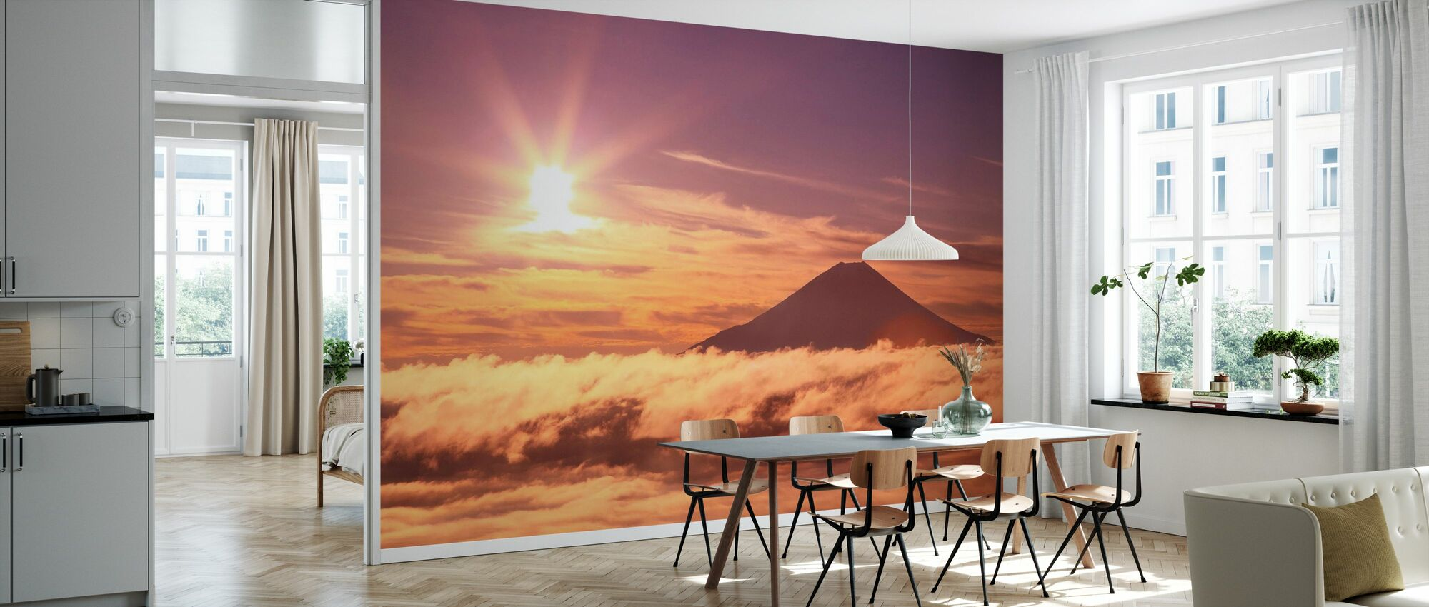 Mount Fuji and Sea of Clouds - Wallpaper - Kitchen