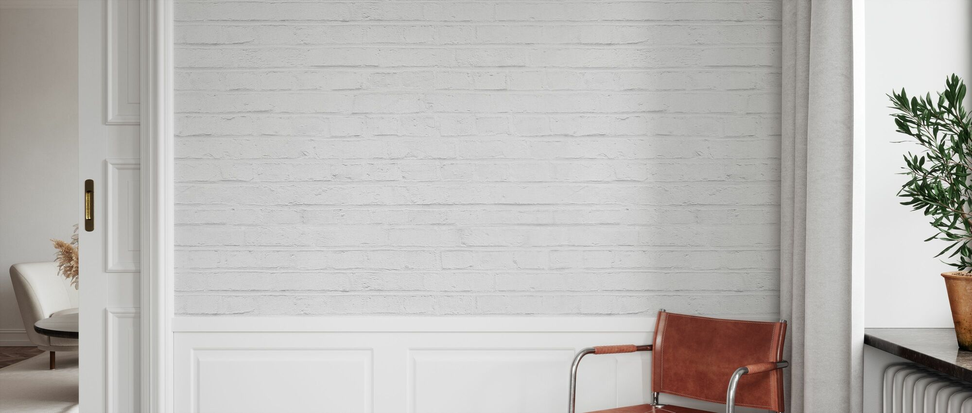 White Brickwall - Wallpaper - Hallway