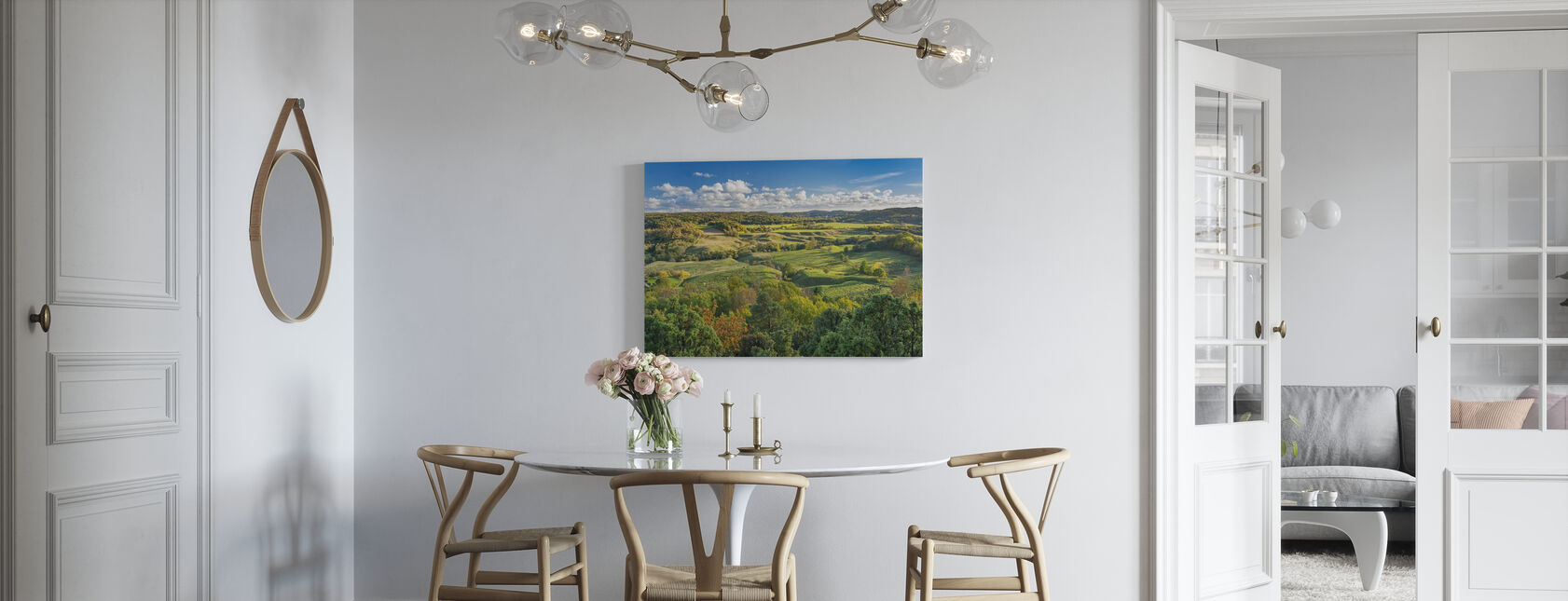 Open Countryside of Sweden - Canvas print - Kitchen