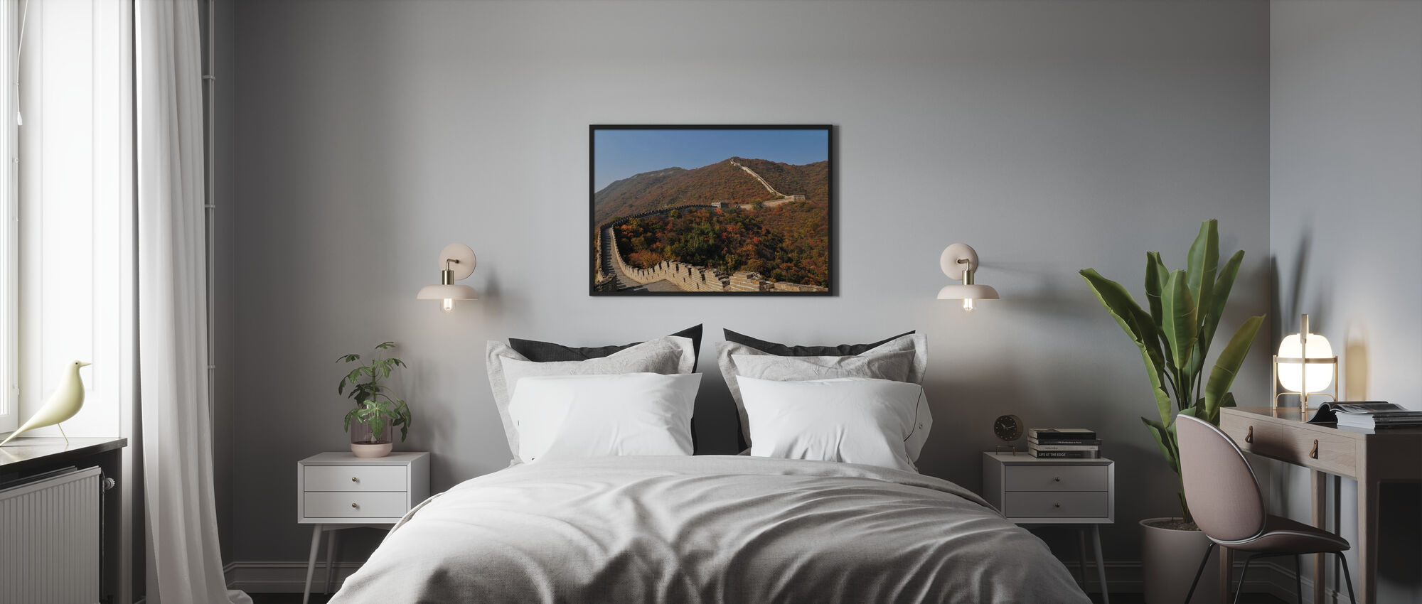 The Great Wall in Autumn - Framed print - Bedroom