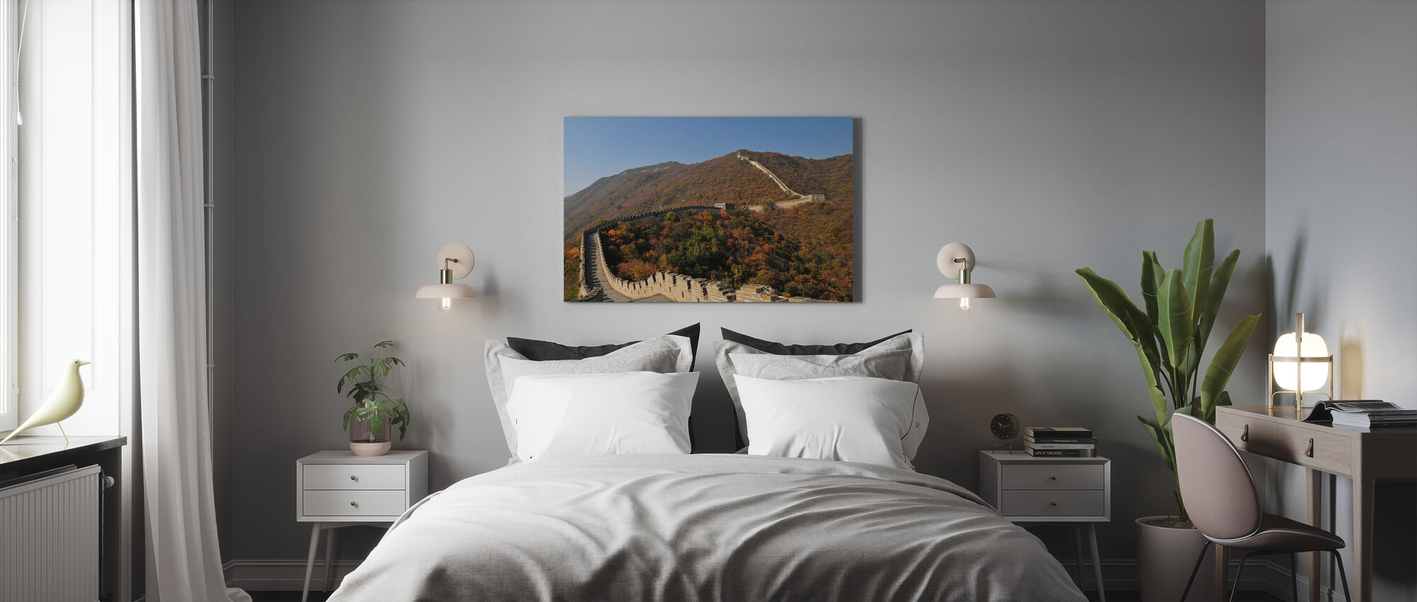 The Great Wall in Autumn - Canvas print - Bedroom