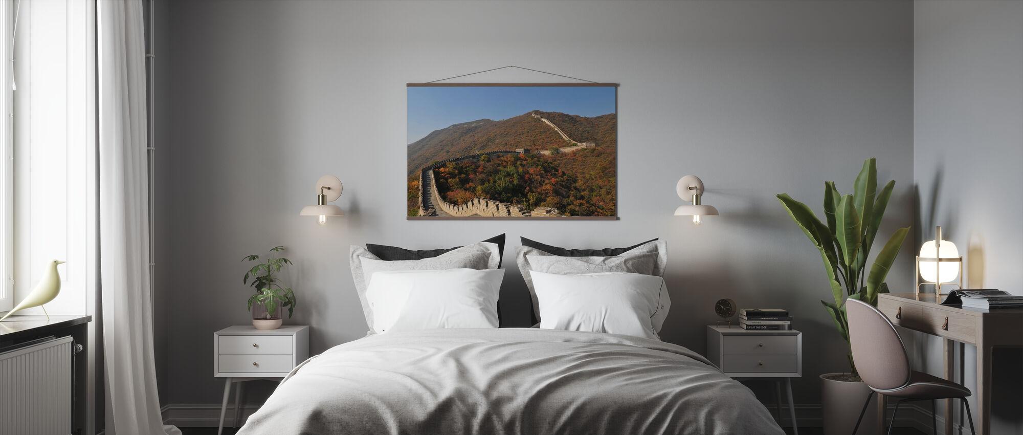 Den kinesiske mur i høst - Plakat - Soverom