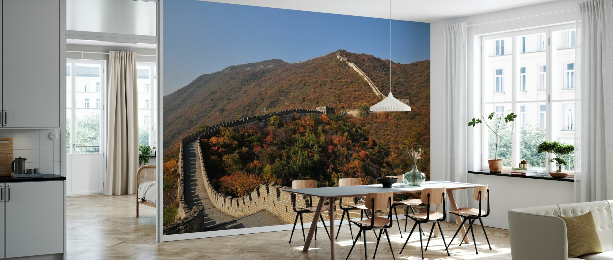 The Great Wall in Autumn - Wallpaper - Kitchen