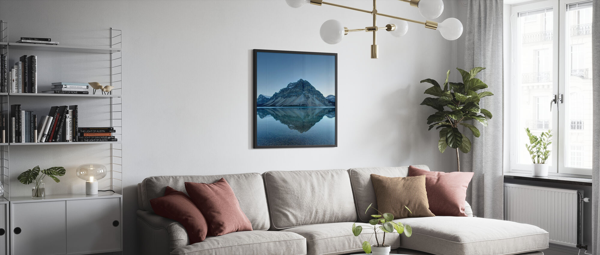 Tranquil Lake Surface - Poster - Living Room