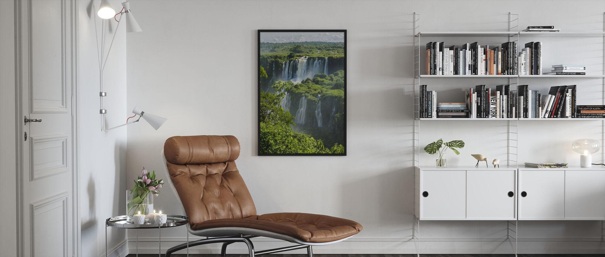 Iguazu Waterfall Through Trees - Poster - Living Room