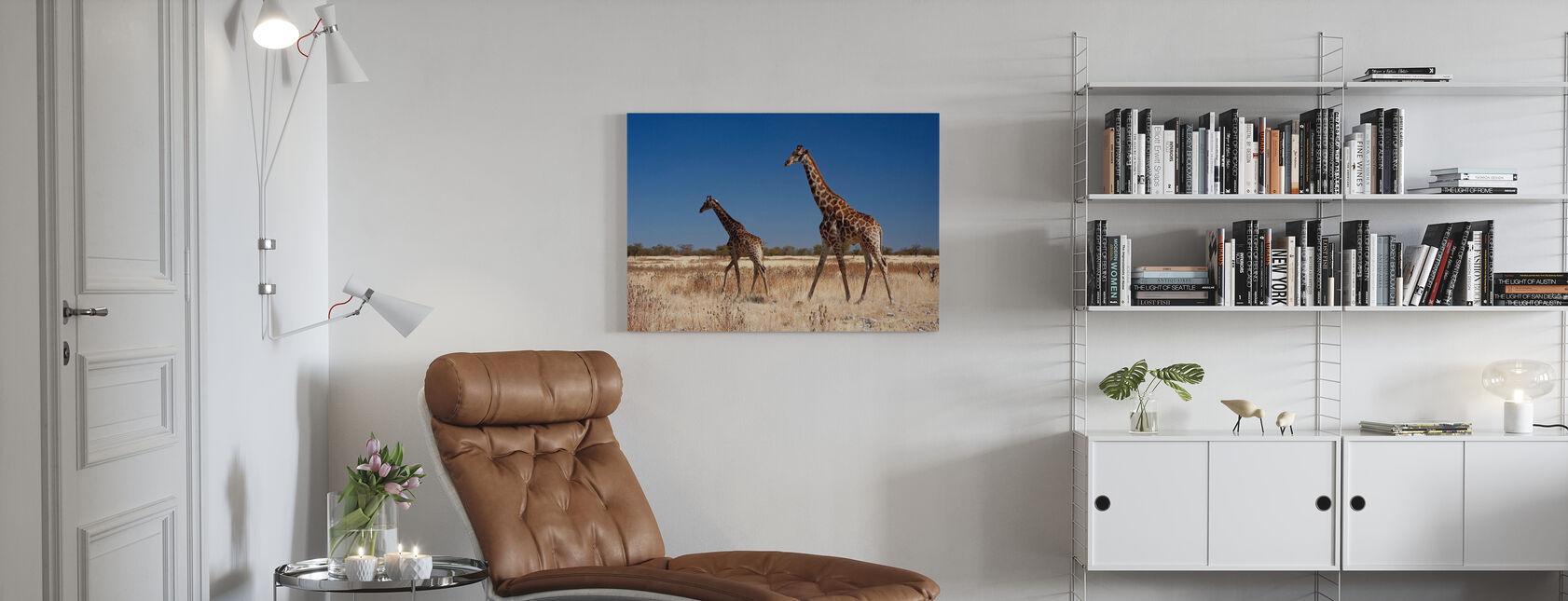 Giraffer ved Etosha National Park - Billede på lærred - Stue
