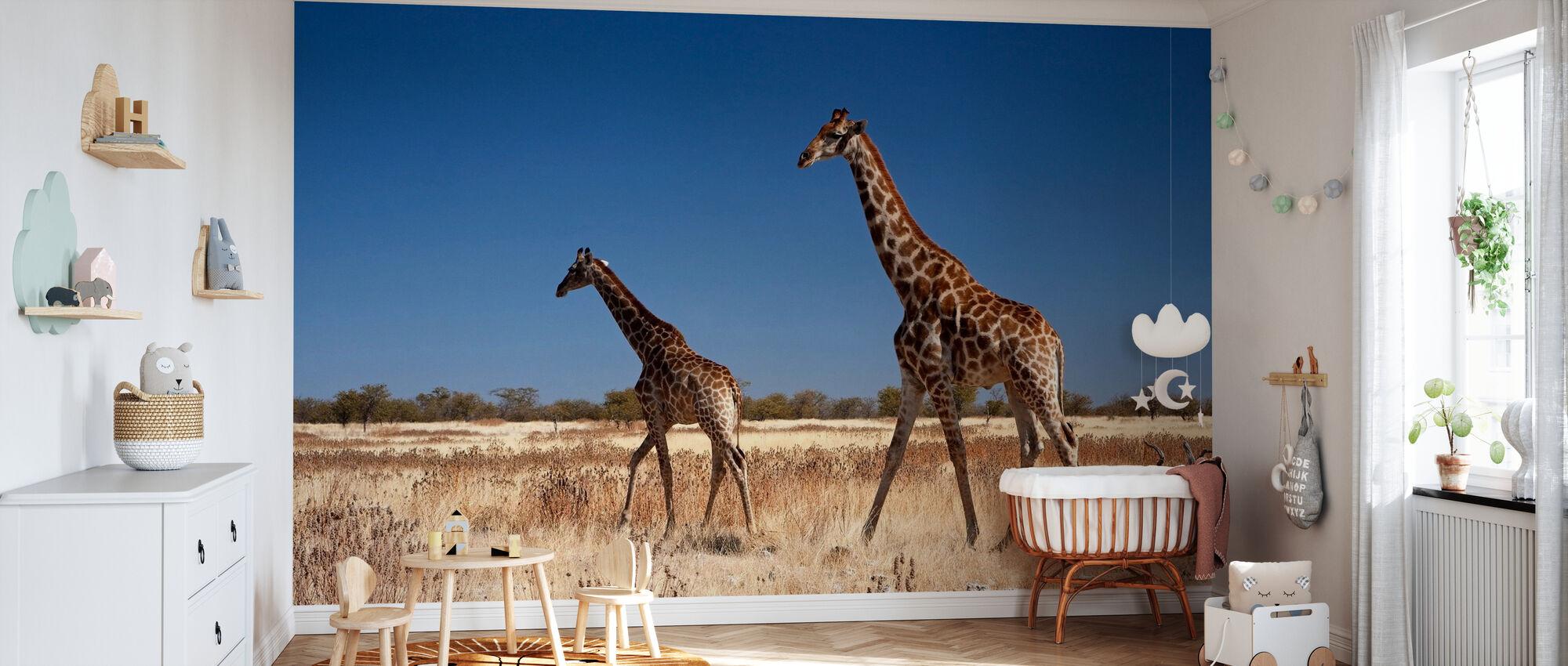 Giraffes at Etosha National Park - Wallpaper - Nursery
