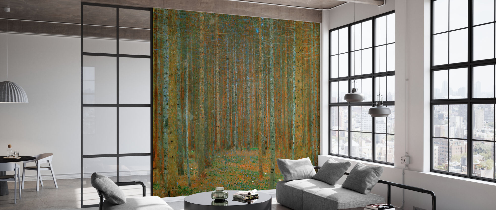 Klimt, Gustav - Fir Forest I - Wallpaper - Office