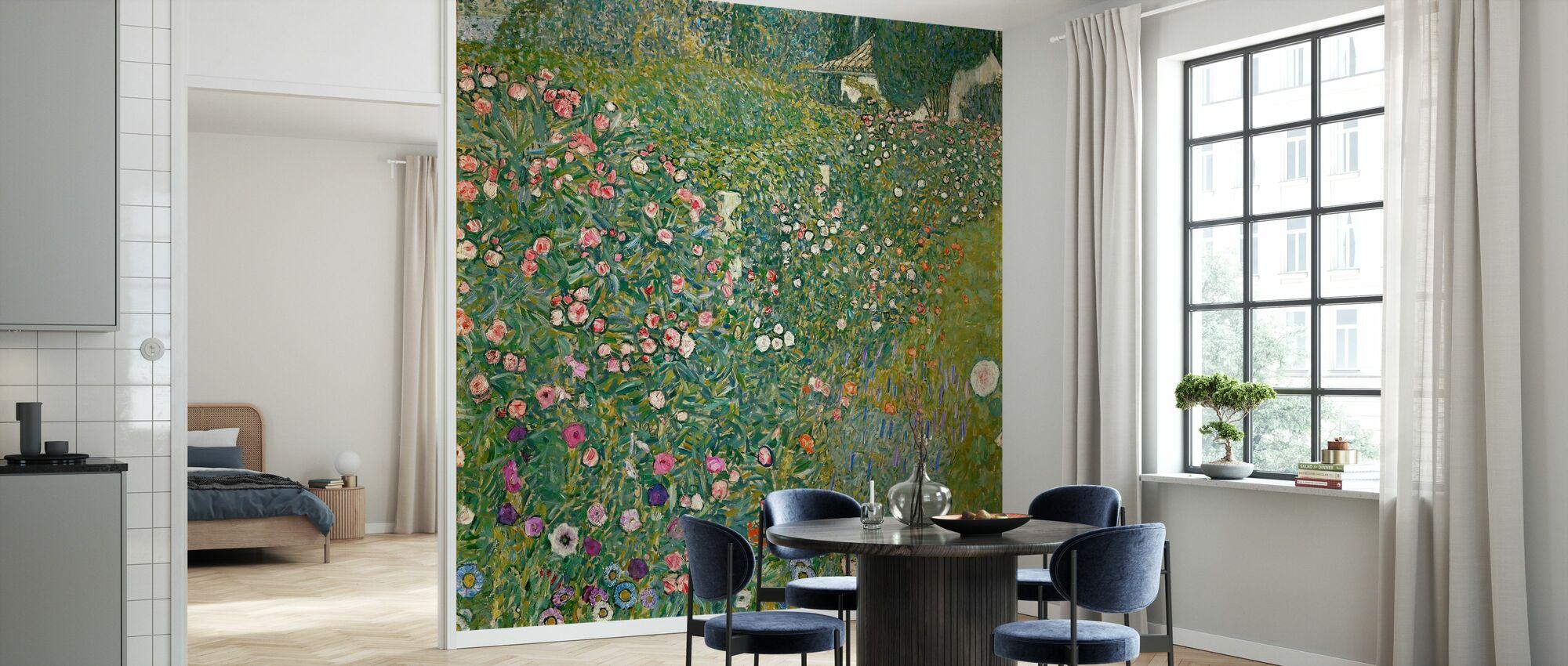 Klimt, Gustav - Italiensk Trädgård Landskap - Tapet - Kök