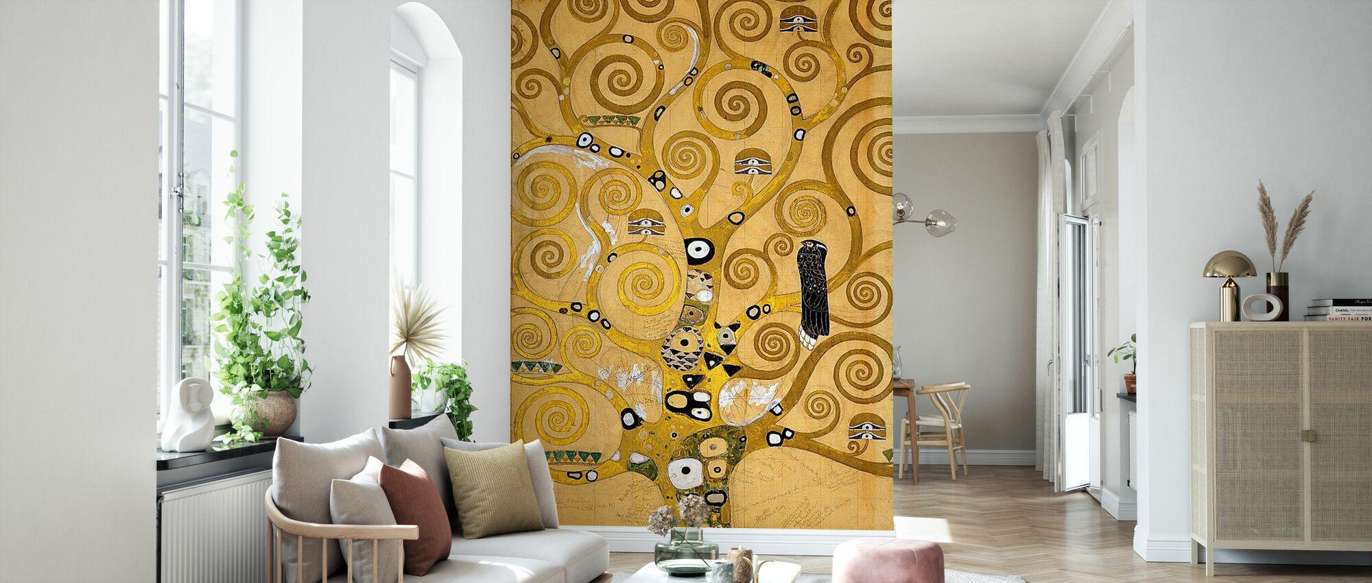 Klimt, Gustav - Der Baum des Lebens - Tapete - Wohnzimmer