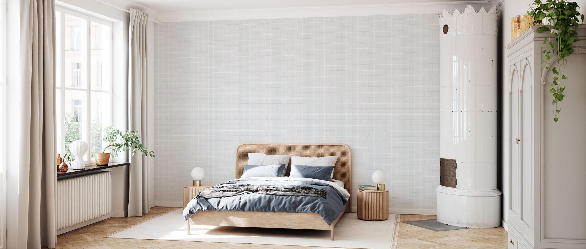 White Ceramic Tiles - 15x15 - Wallpaper - Bedroom