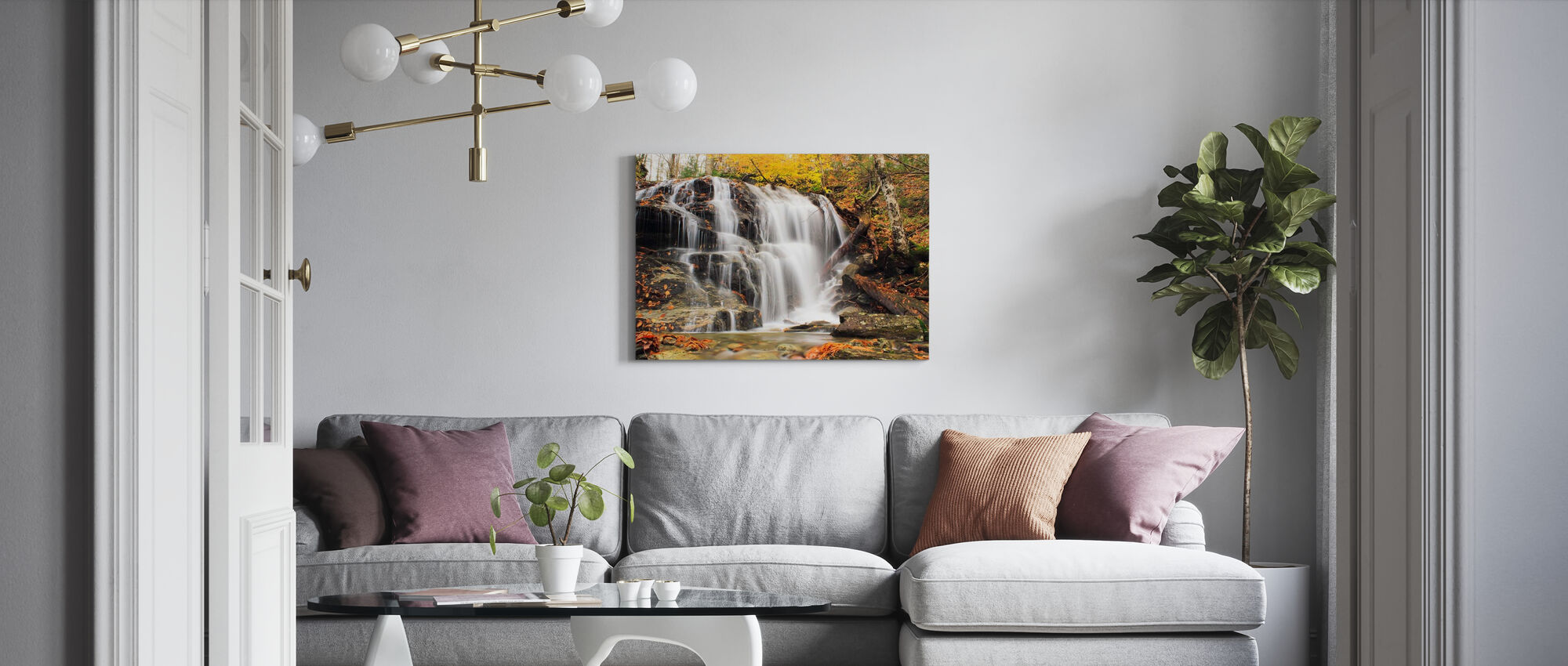 Autumn Dressed in Smugglers' Notch - Canvas print - Living Room