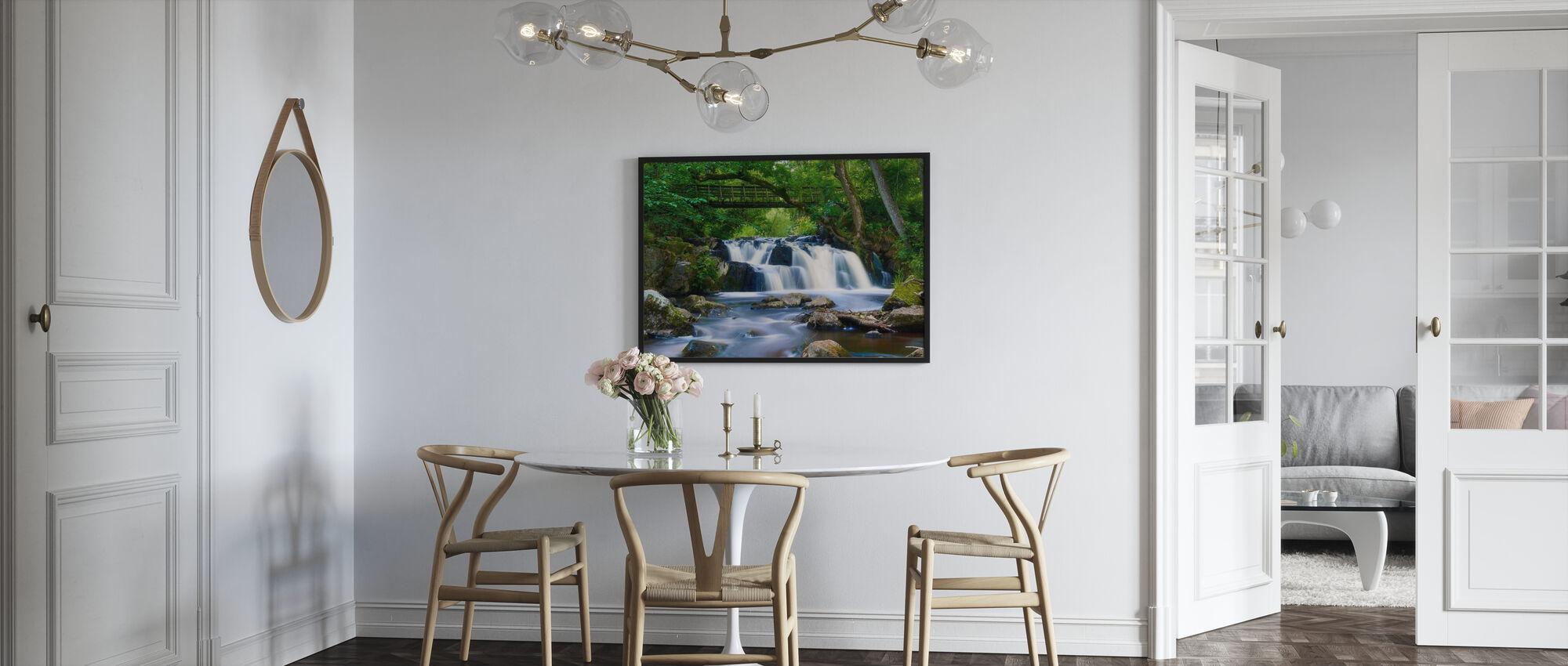 Schwedischer Wasserfall im Ökopark von Christinehof - Poster - Küchen