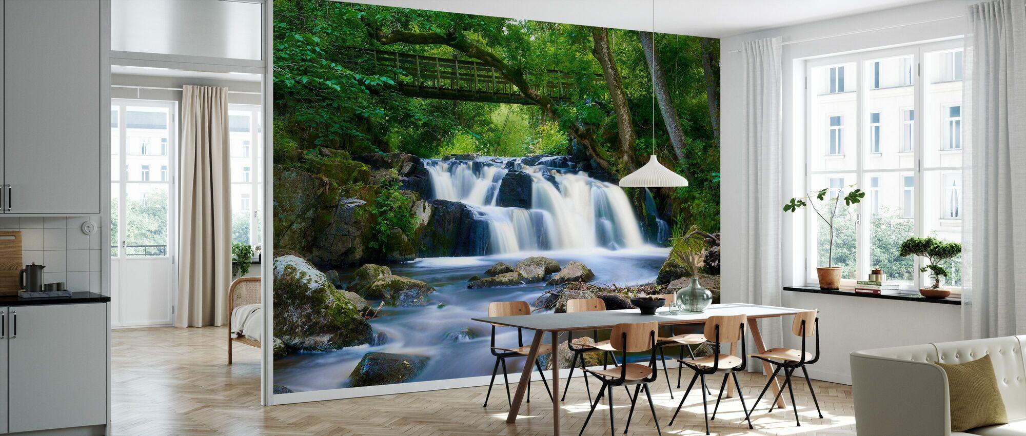Swedish Waterfall in Christinehof's Ecopark - Wallpaper - Kitchen