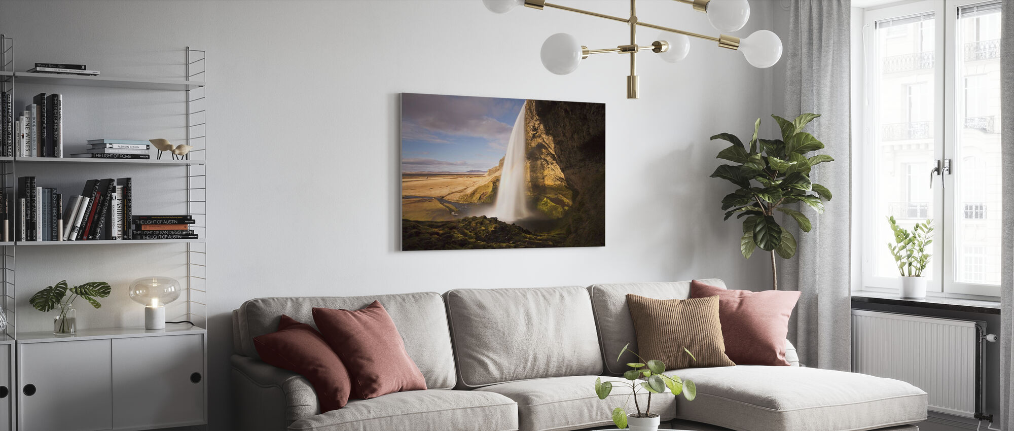 In Safe Distance - Canvas print - Living Room