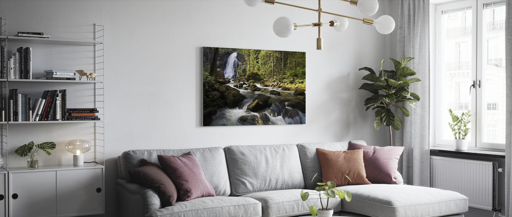 Serene Waterfall - Canvas print - Living Room