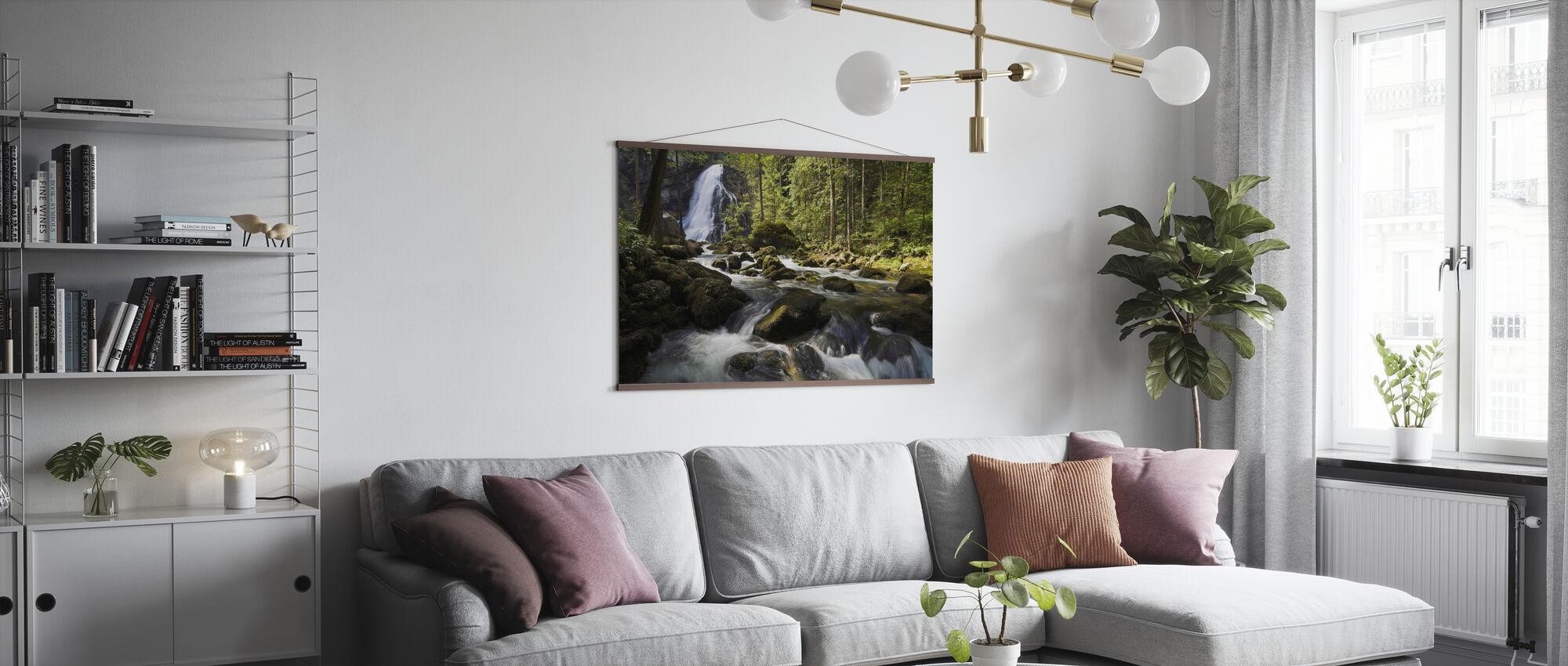 Serene Waterfall - Poster - Living Room