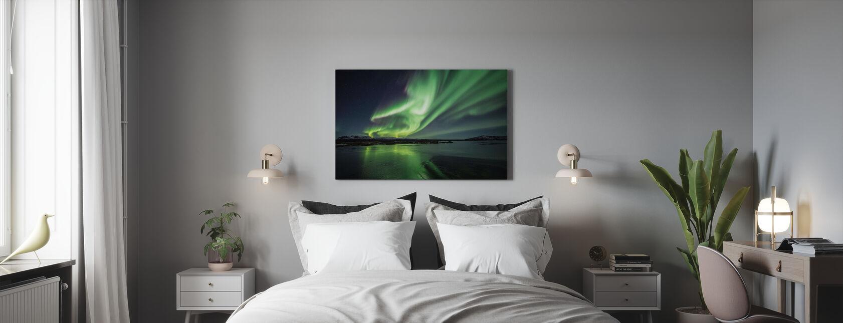 Fortryllende Aurora Borealis - Lerretsbilde - Soverom
