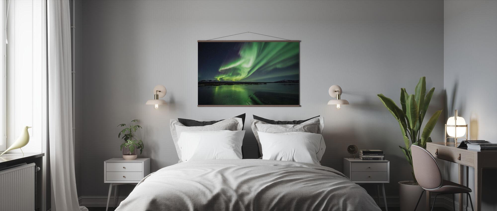 Incantevole Aurora Boreale - Poster - Camera da letto