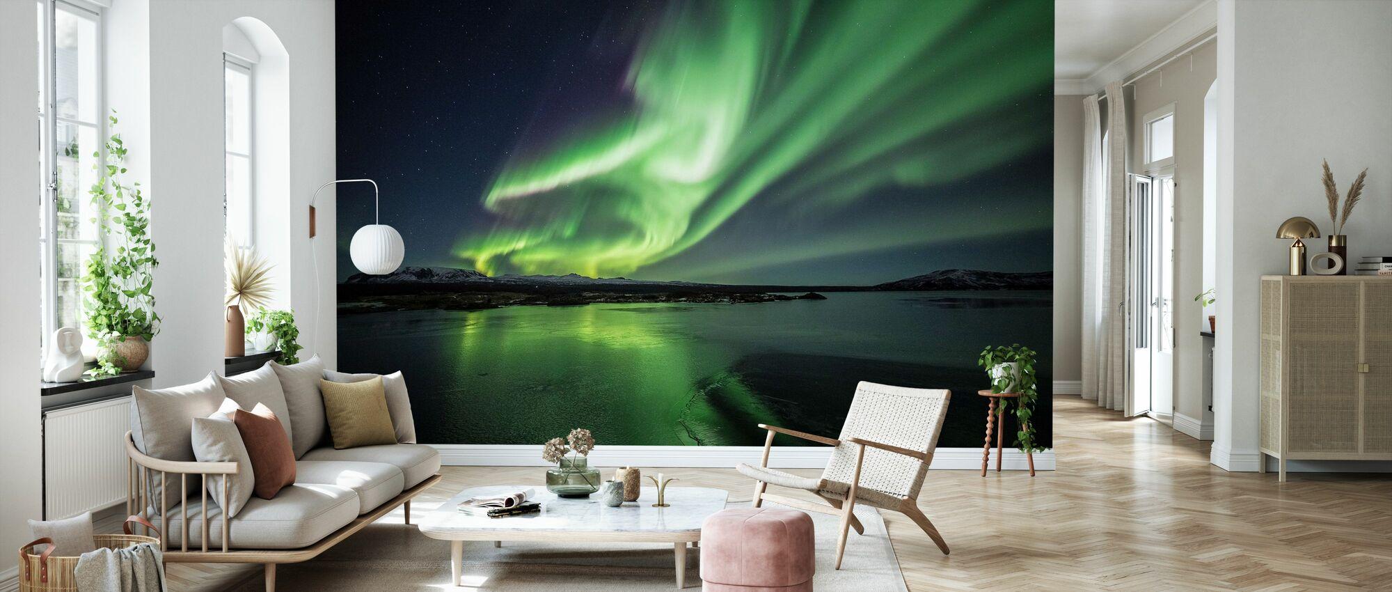 Lumoava Aurora Borealis - Tapetti - Olohuone