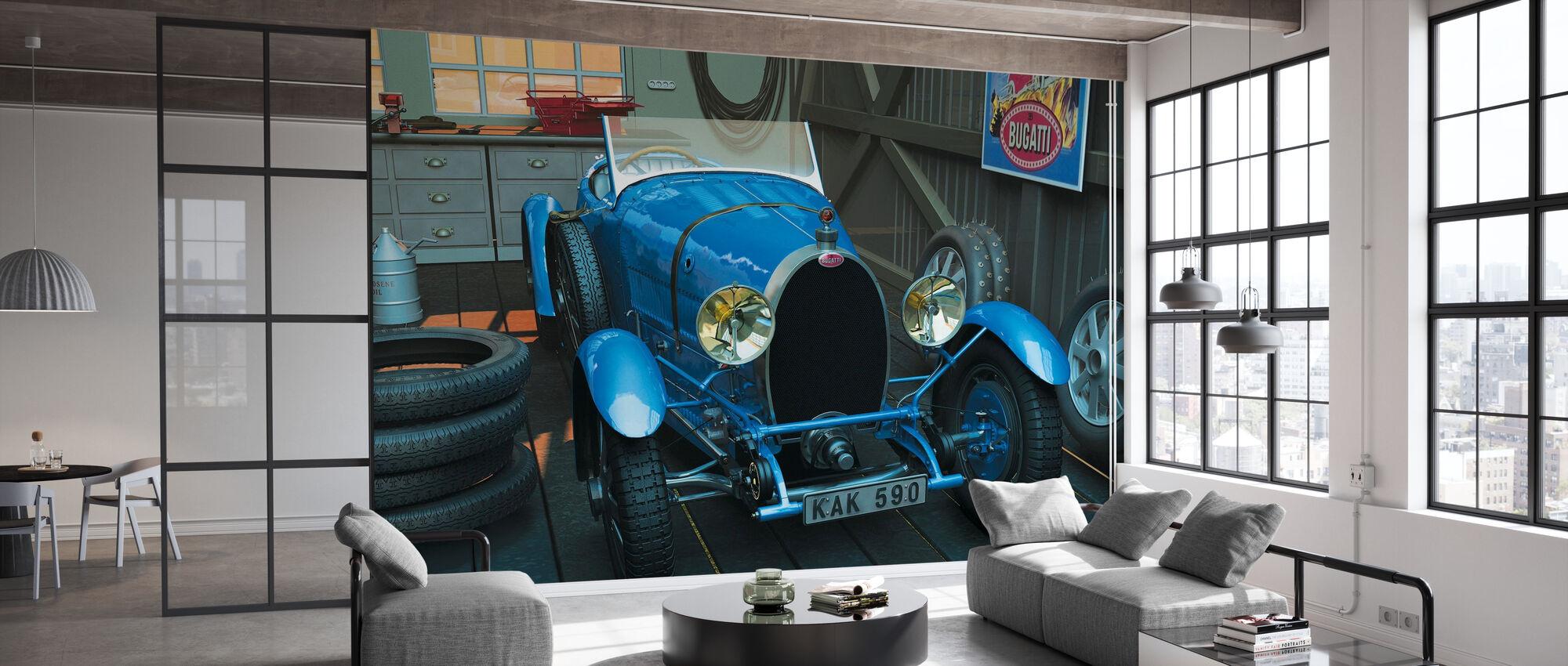 Car in the Garage - Wallpaper - Office
