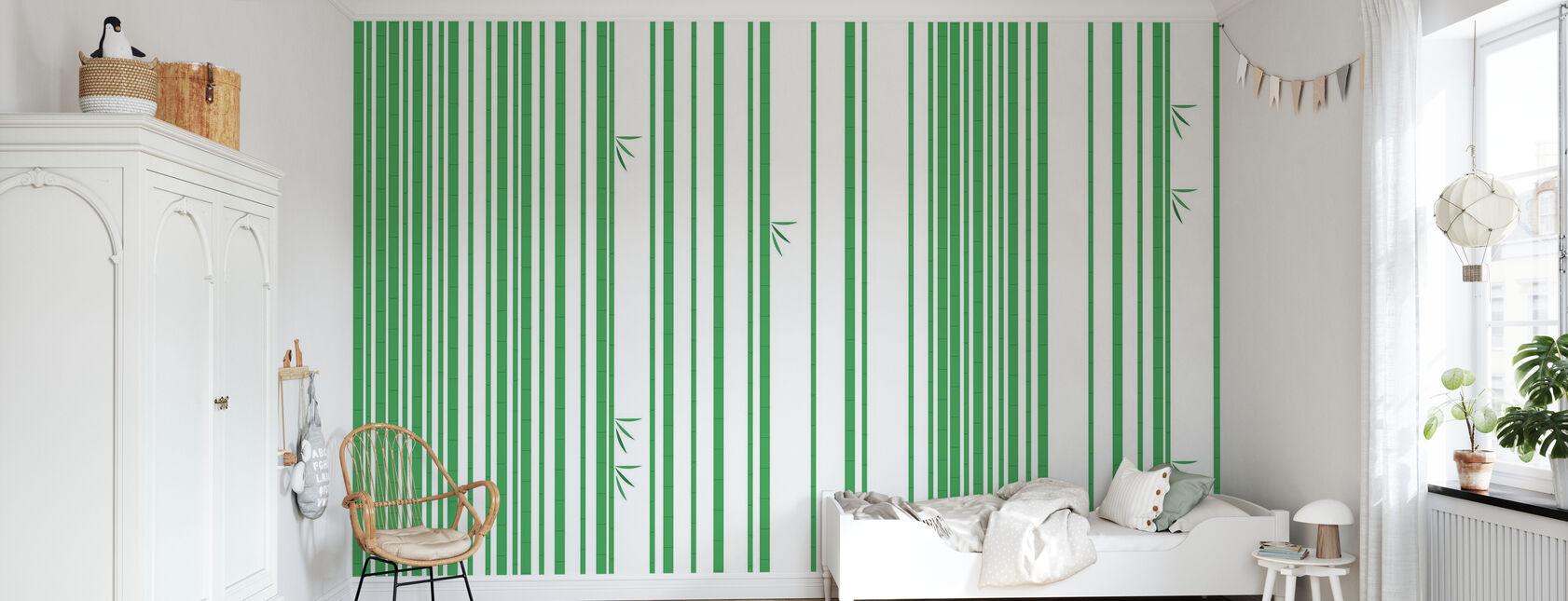 Bambu Metsä Vihreä - Tapetti - Lastenhuone
