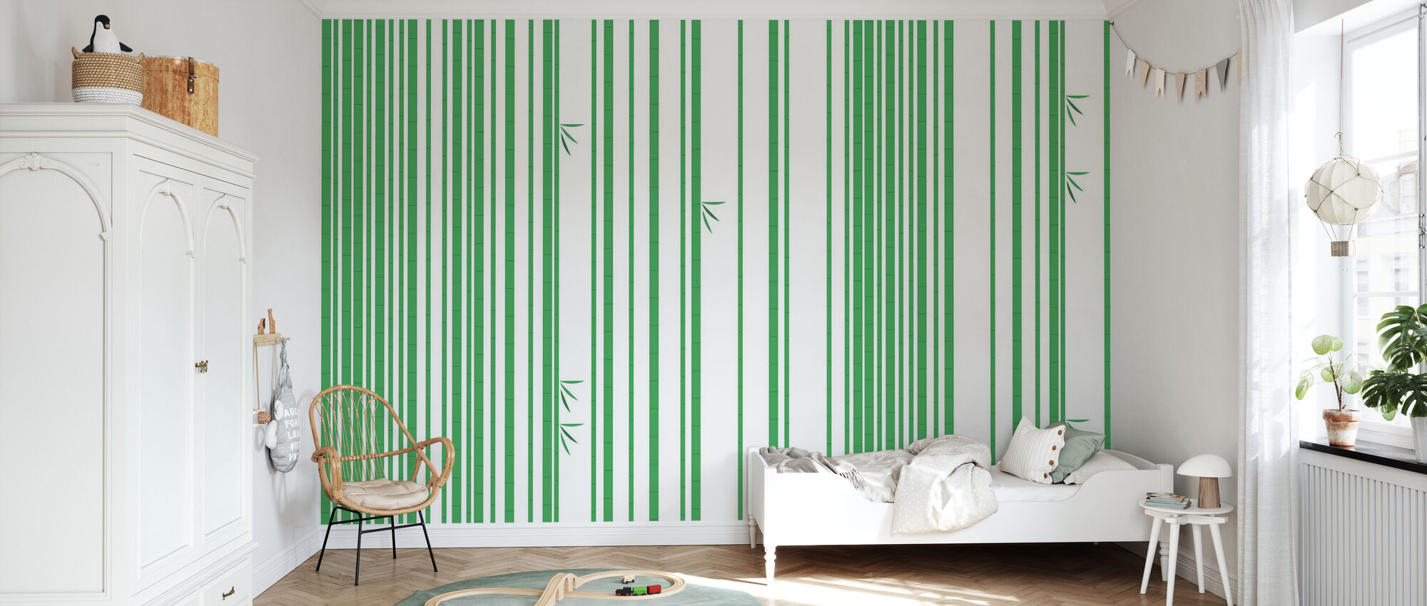 Bambu Forest Groen - Behang - Kinderkamer