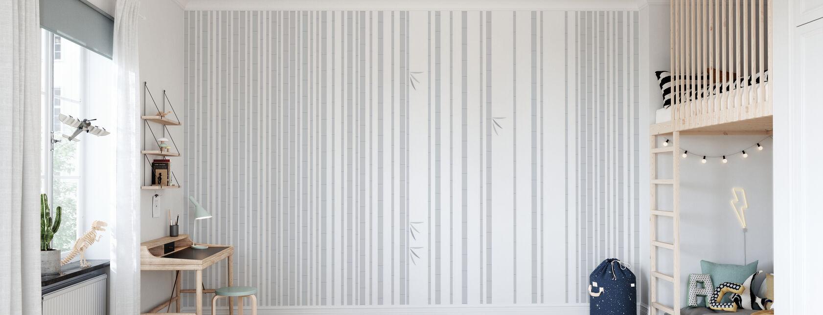 Bambu Forest Grey - Wallpaper - Kids Room