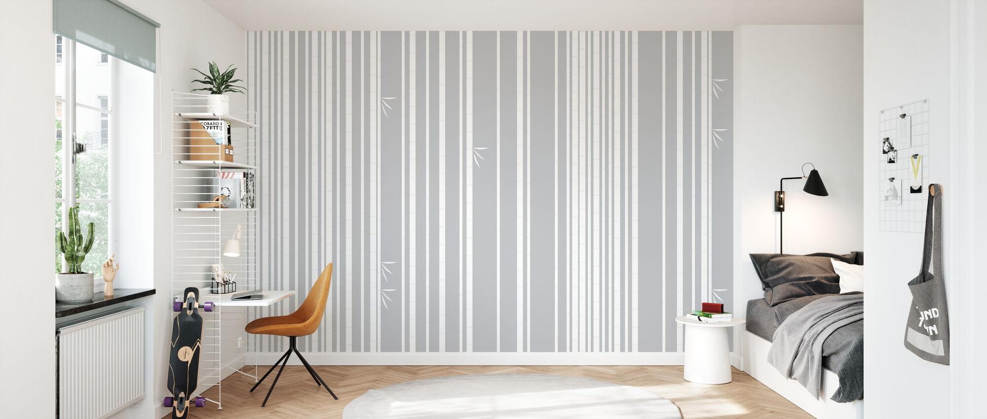 Bambu Forest Bianco - Carta da parati - Camera dei bambini
