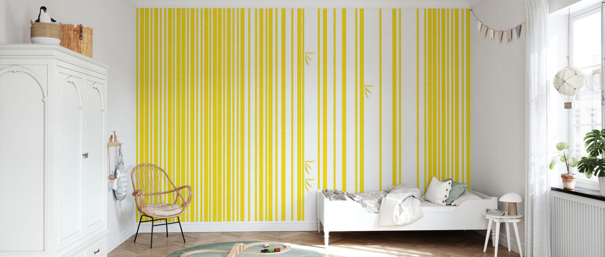 Bambu Forest Yellow - Wallpaper - Kids Room