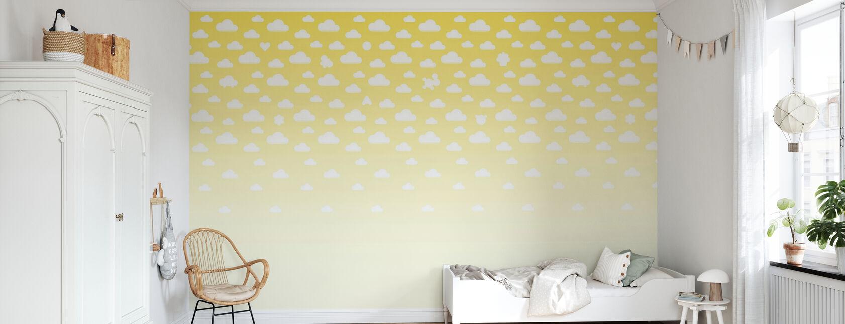 Cloudspotting Jaune - Papier peint - Chambre des enfants