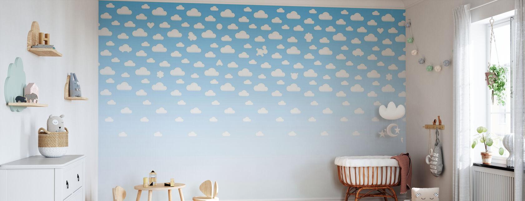 Cloudspotting Blå - Tapet - Babyrom