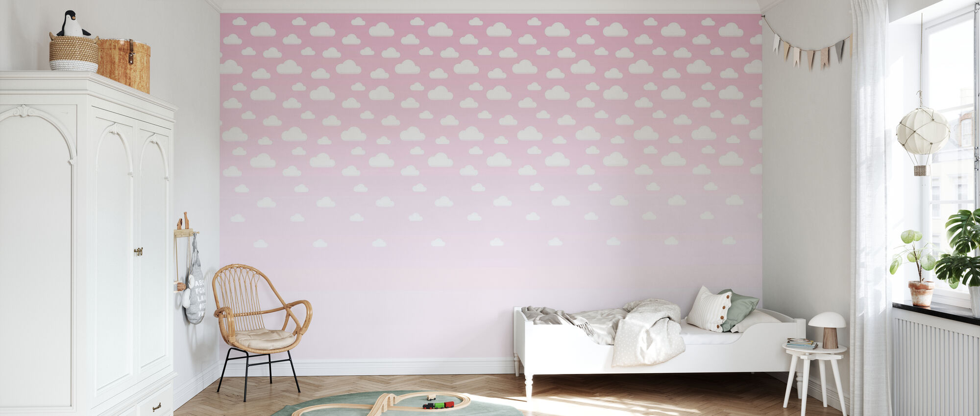 Cumulus Pink - Wallpaper - Kids Room