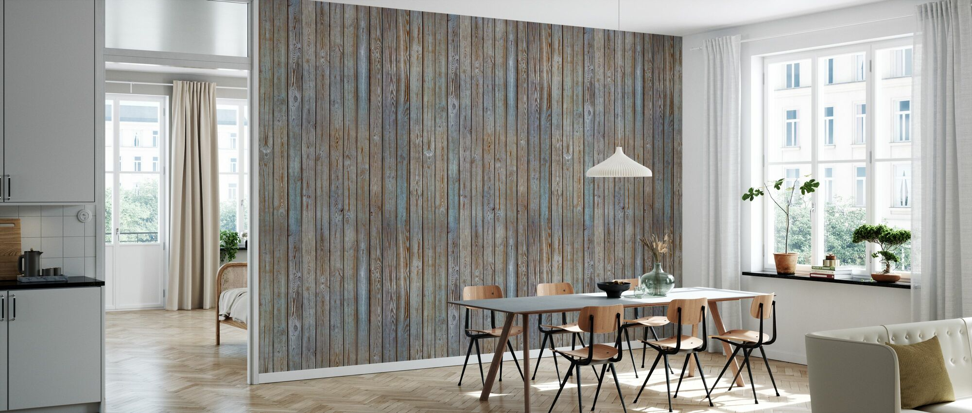 Wooden Plank Wall Old Silver Stylish High Quality Wallpaper With Fast Delivery Photowall