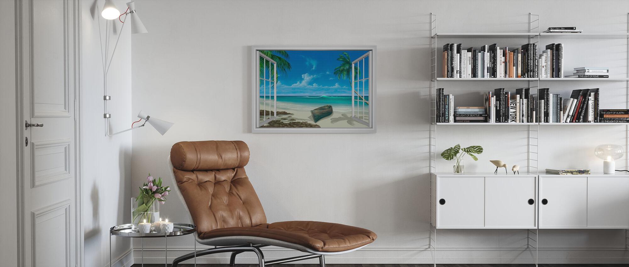 Escape to Paradise - Canvas print - Living Room