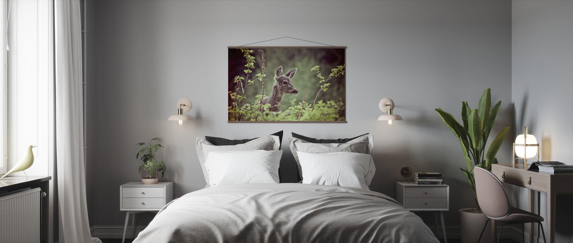Hirsch im Wald - Poster - Schlafzimmer