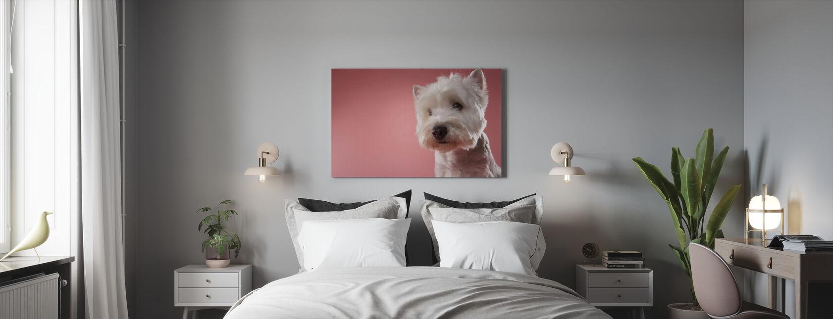 West Highland Terrier - Canvas print - Bedroom