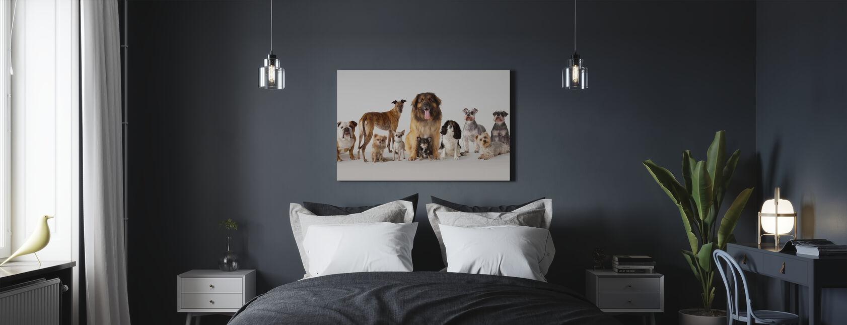Groepportret van Honden - Canvas print - Slaapkamer