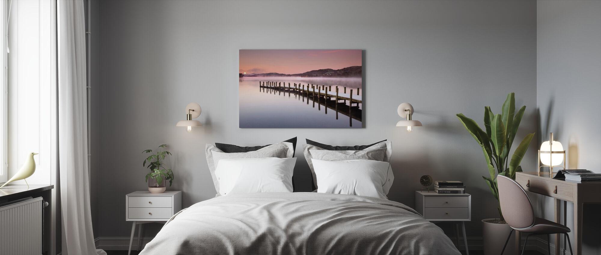 Aanlegsteiger op Coniston Water - Canvas print - Slaapkamer