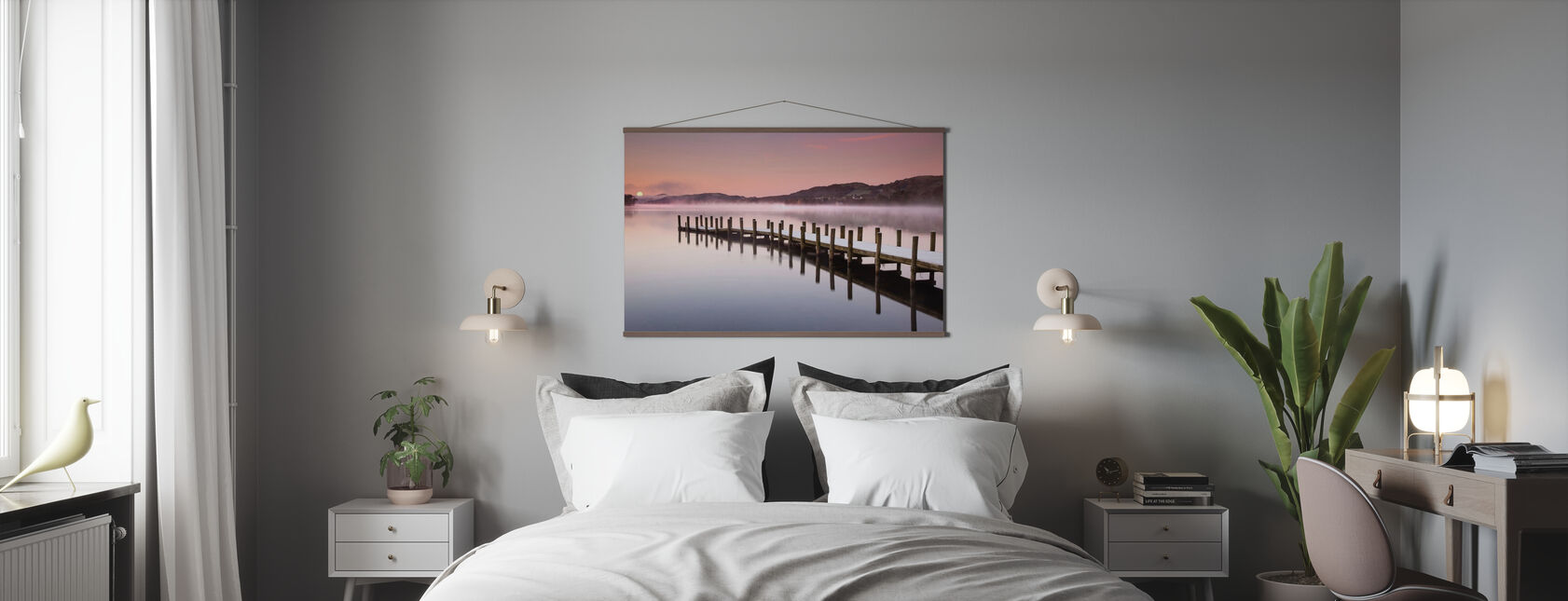 Landing Jetty on Coniston Water - Poster - Bedroom