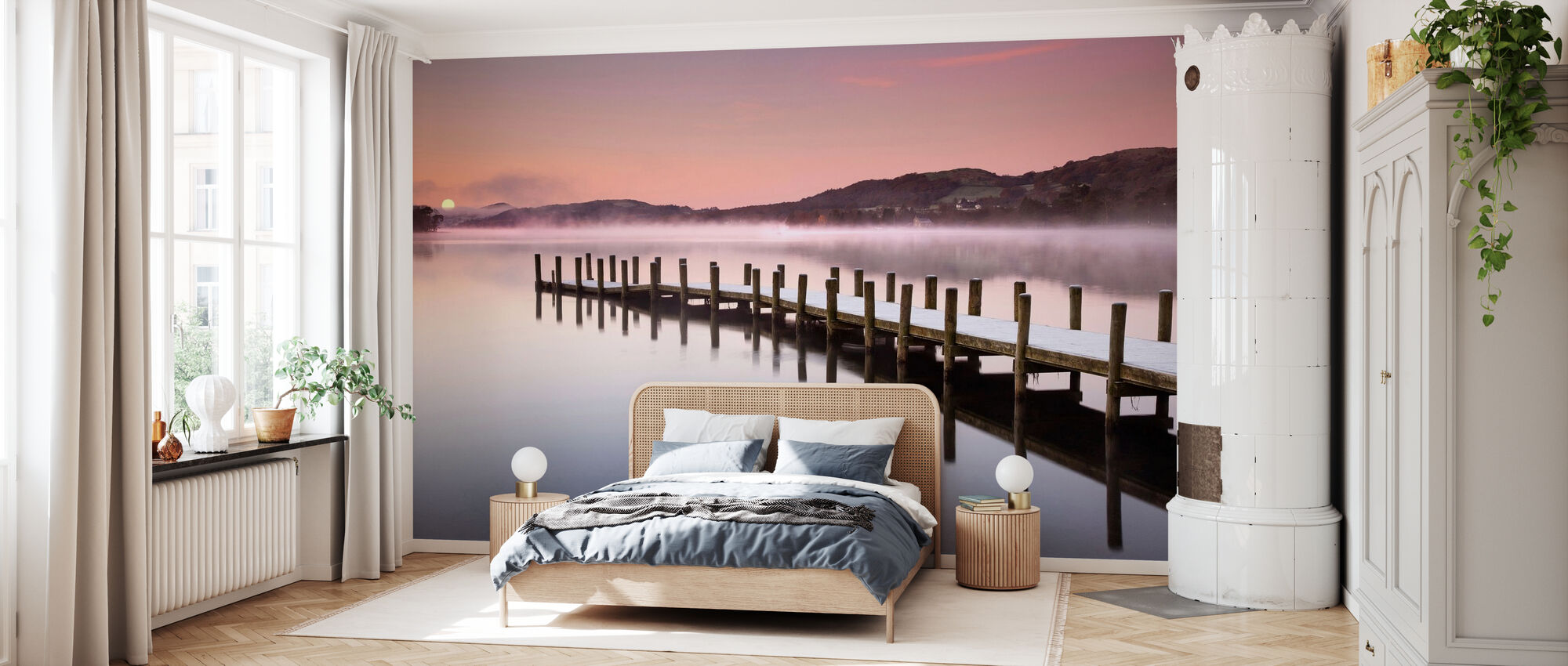 Landing Jetty on Coniston Water - Wallpaper - Bedroom