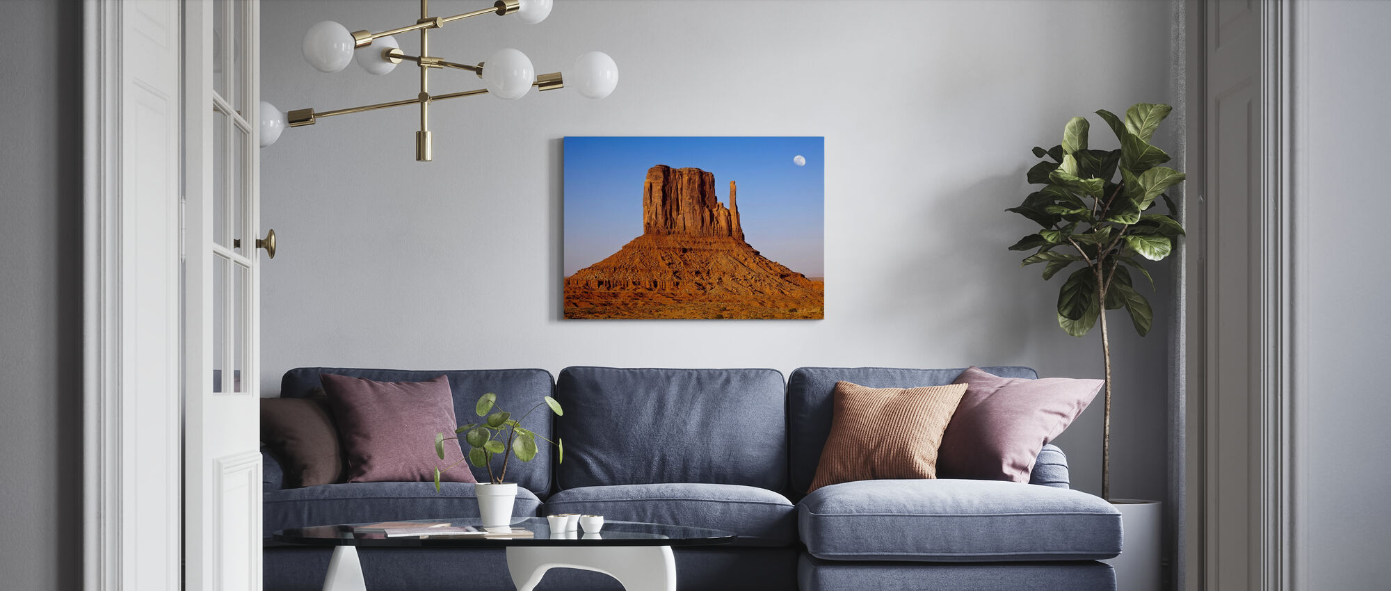 Monument Valley at Sunset - Canvas print - Living Room